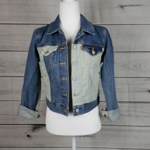 NWOT Levi• S jacket denim jean striped trucker